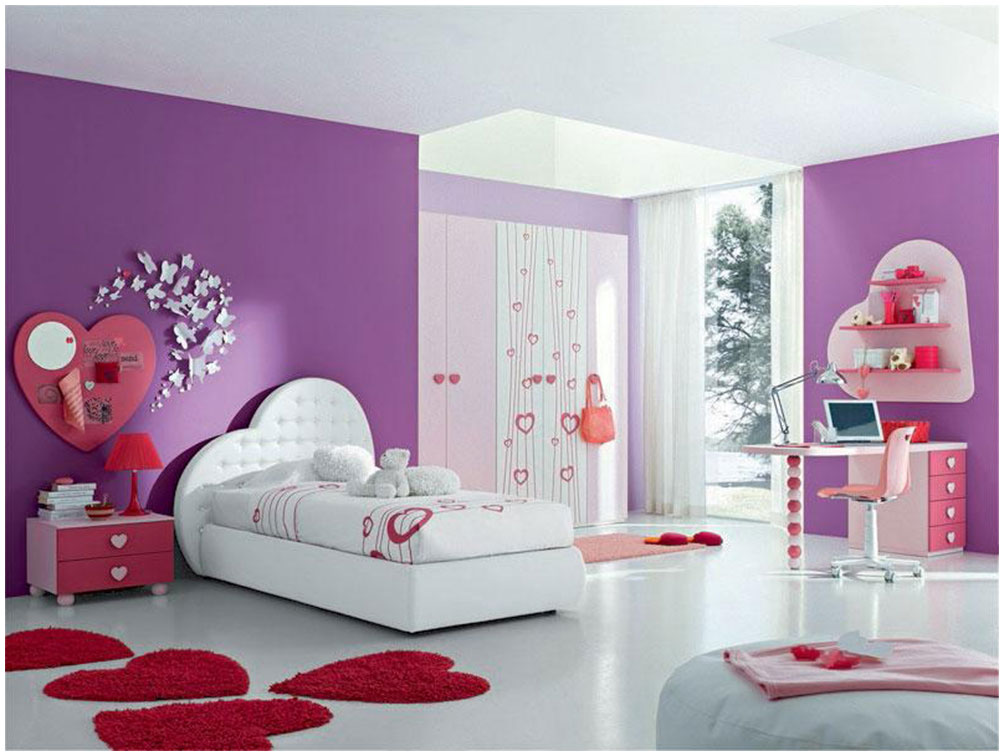 Purple Teen Bedroom Paint Colors Design Interior Design
