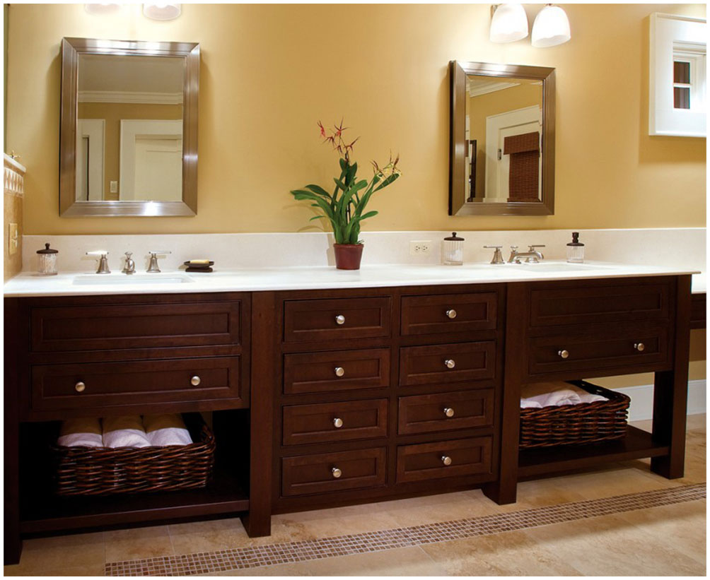 Wooden Bathroom Floor Storage Cabinets