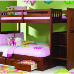 Lovely Twin Wooden Bedrooms Decor with Green Wall 150x150 Where Should I Place My Bed in My Lovely Bedroom?