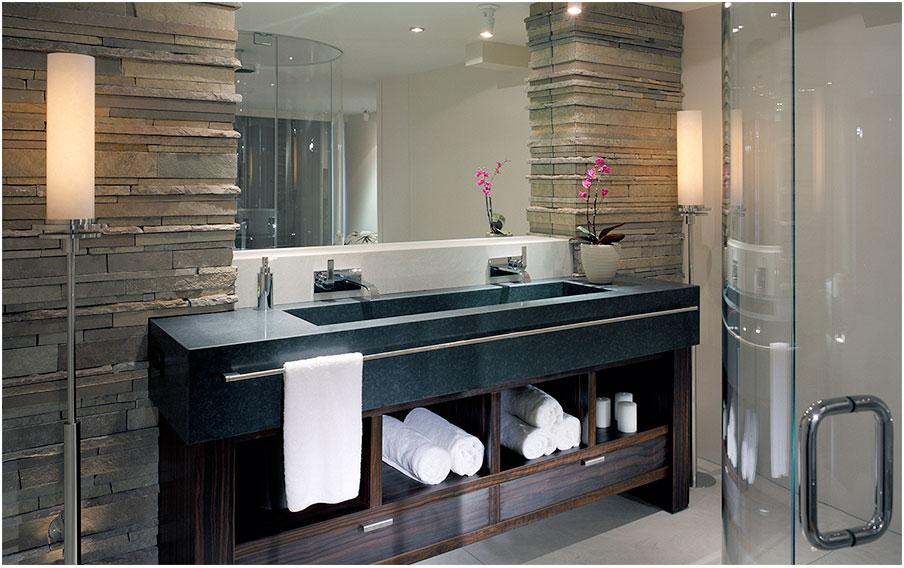 Blue Marble Stone Trough Vintage Sink