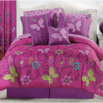Butterflies Purple Pink Girls Twin Bedding Sets
