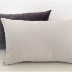 Charcoal grey Buttoned Velvet Cushion