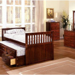 Classic Twin Size Bed Frame with Storage
