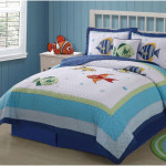 Colorful Sea Motif for Childrens Comforter Sets