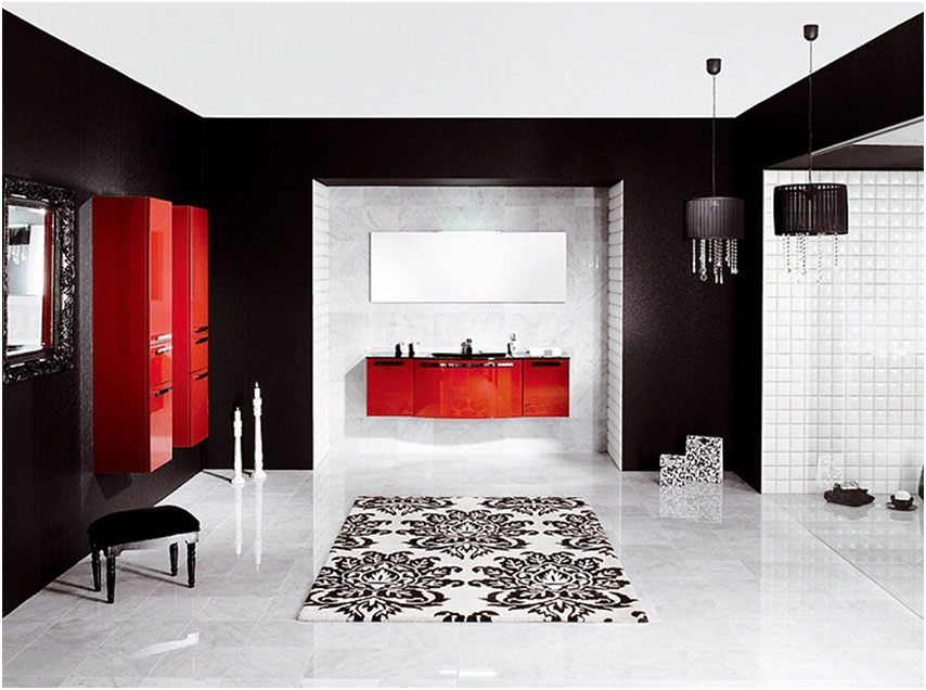 Contemporary Black And White Bathrooms Design Ideas
