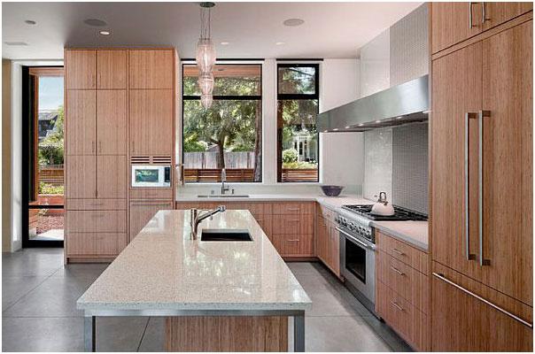 Contemporary Kitchen Stone Countertops Design