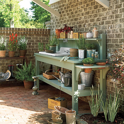 Diy garden potting work bench plans interior design ideas for Garden potting bench designs