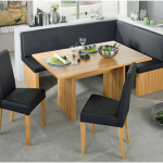 Elegant Dining Room Chairs With Black Cushions