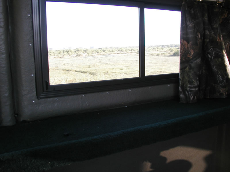 Fiberglass deer blind windows interior design ideas for Inside deer blind ideas