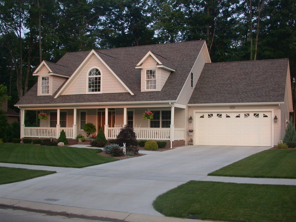 French Colonial Built With Vinyl Siding Institute