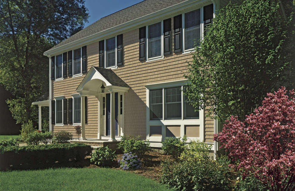 Georgian home with Vinyl Siding Institute