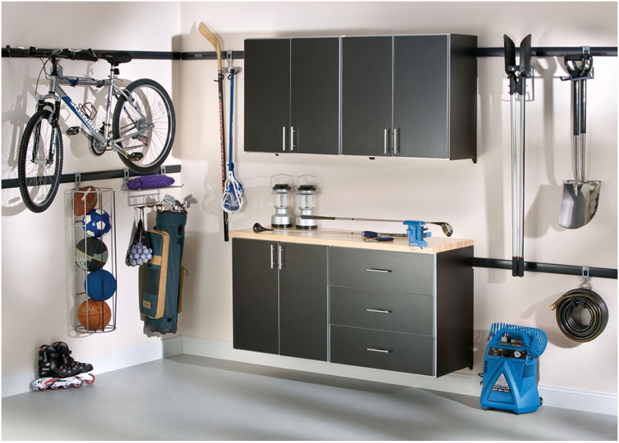 Grey Metal Garage Storage Cabinets Material