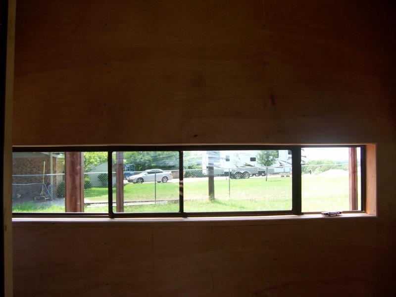 Horizontal Slider Deer Blind Windows
