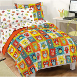 Kids Comforter Sets Features Cartoon Monsters