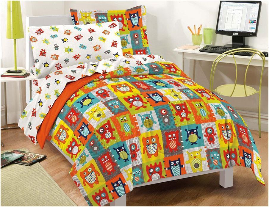Kids Comforter Sets Features Cartoon Monsters