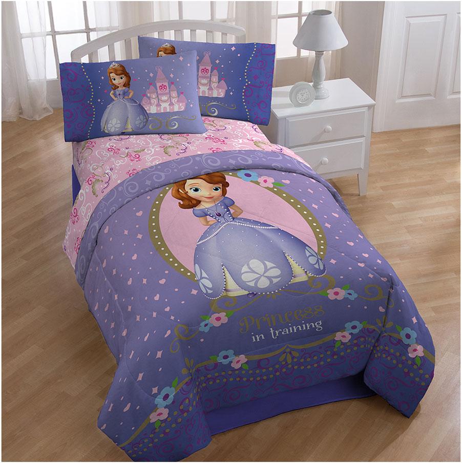 Kids Comforter Sets With Disney Sofia First Princess Motif