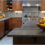 Kitchen Gray Stone Counters Design Ideas