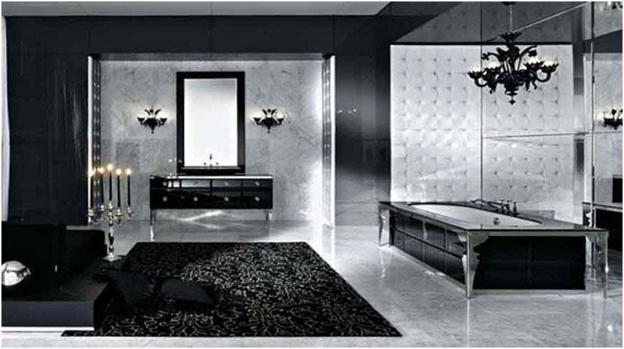 Luxury Concept Black And White Bathrooms Design