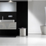 Minimalist Black And White Bathrooms Design