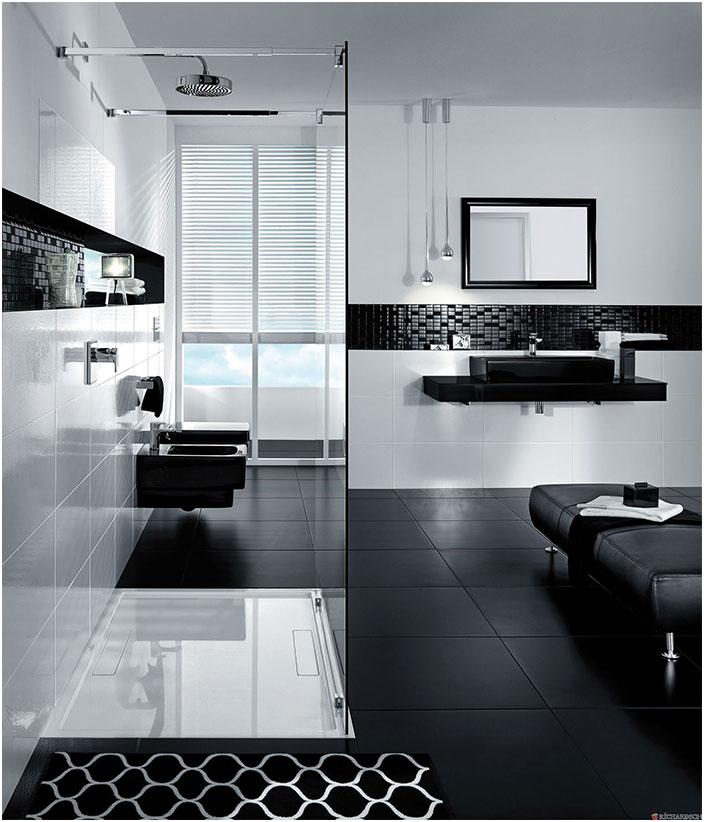 Modern Black and White Bathroom Design Inspirations