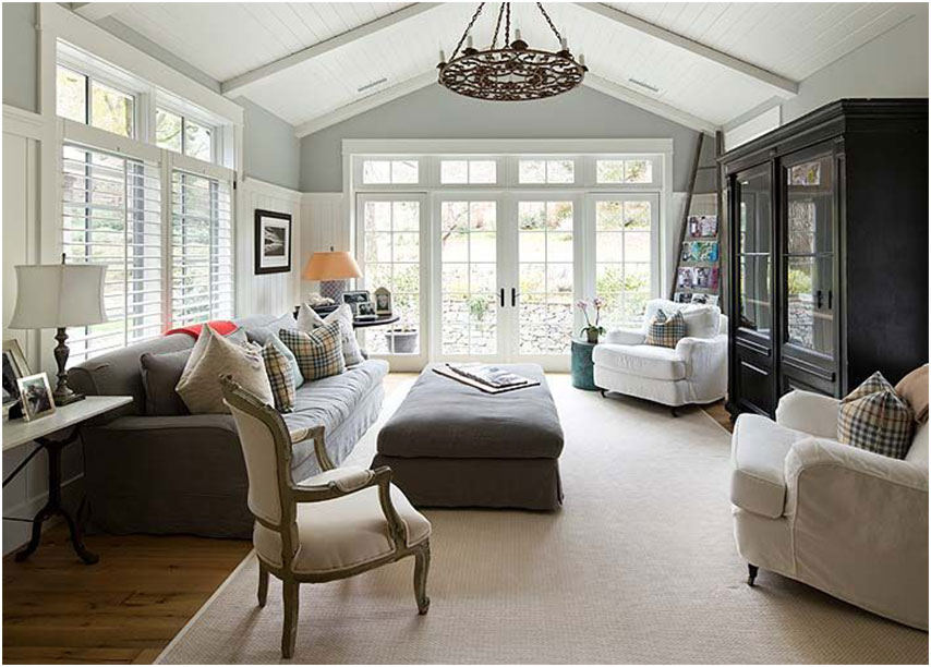 Modern Farmhouse Family Room Design Interior Design Ideas