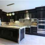 Modern Farmhouse Kitchen Dark Cabinets Design