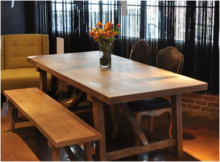 Modern Farmhouse Wooden Dining Room Table
