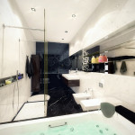 Modern Glamour Bathroom Interior Design