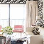 Modern Glamour Family Room Interior Design