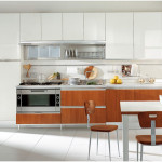 Modern Italian Kitchen Designs with Wooden Cabinet