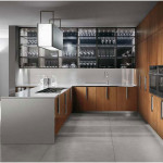 Modern Italian Wooden Kitchen Cabinet
