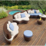 Outdoor Patio and Elegant Sofa Furniture