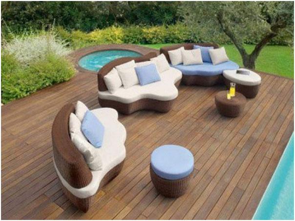 Outdoor Patio and Elegant Sofa Furniture
