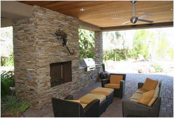 Patio Fireplace Design Ideas