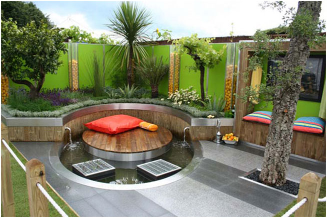 Patio Garden Design Ideas With Water