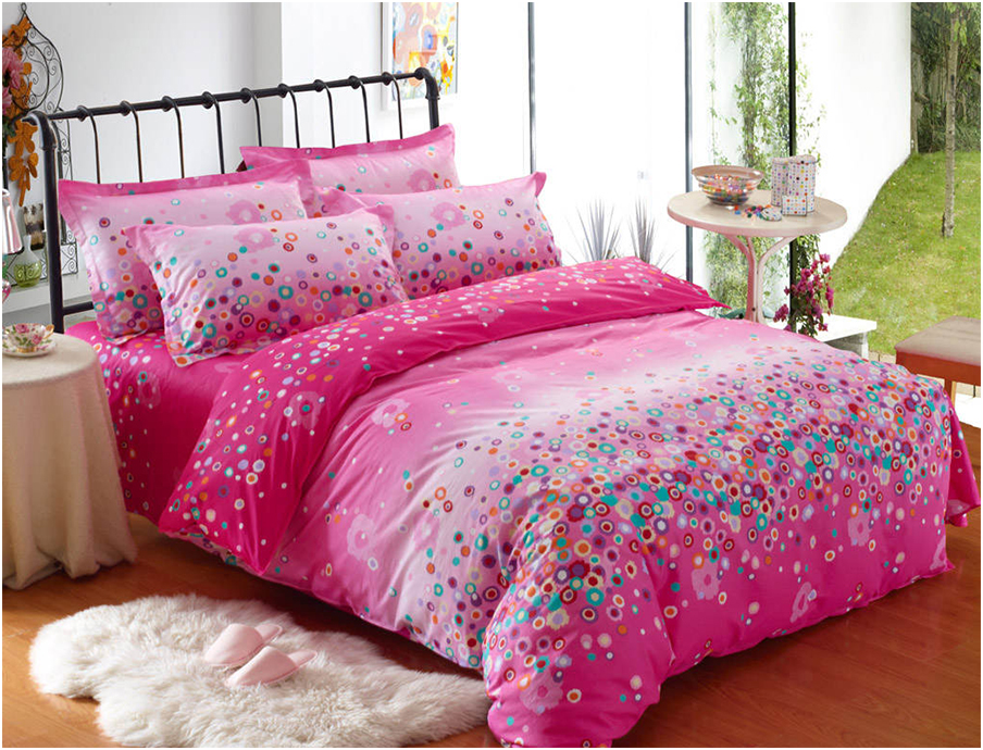Pink Floral Girls Twin Bedding Sets
