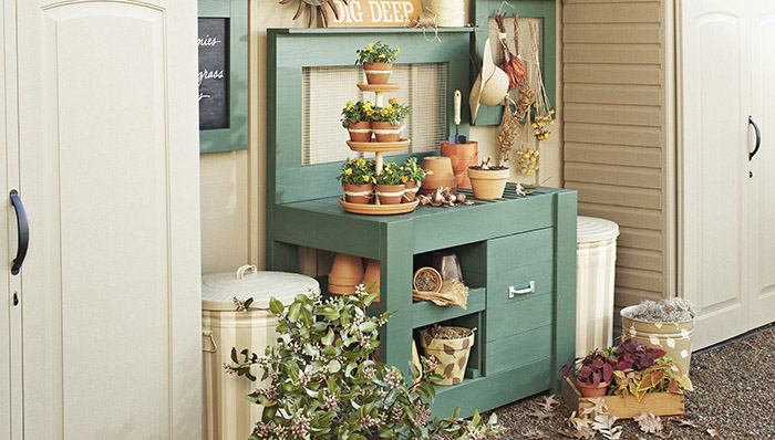 Potting DIY Garden Work Bench