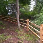 Red Cedar Split Rail fence