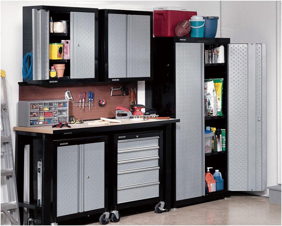 Resplendent Metal Cabinets for Garage