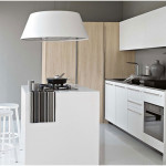 Small Modern Italian Kitchen Design with Wood Element