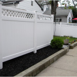 Split Lattice Rails With PVC