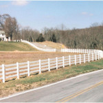 Split Rails Fence With Vinyl PVC