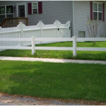 Split Rails with PVC Picket