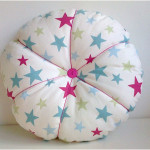 Star Round Cotton Buttoned Velvet Cushion