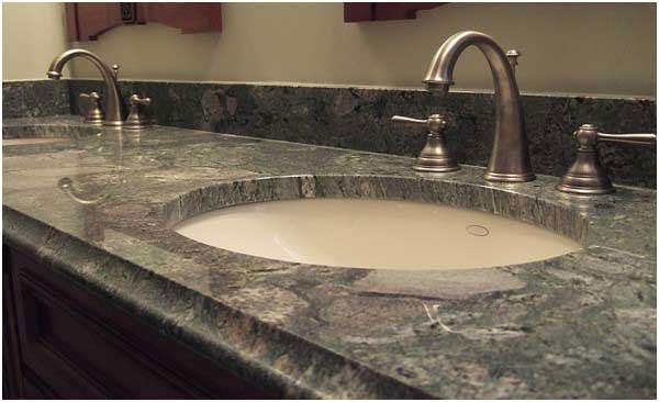 Stone Bathroom Countertop Idea