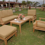 Teak Outdoor Furniture With The Interesting Design