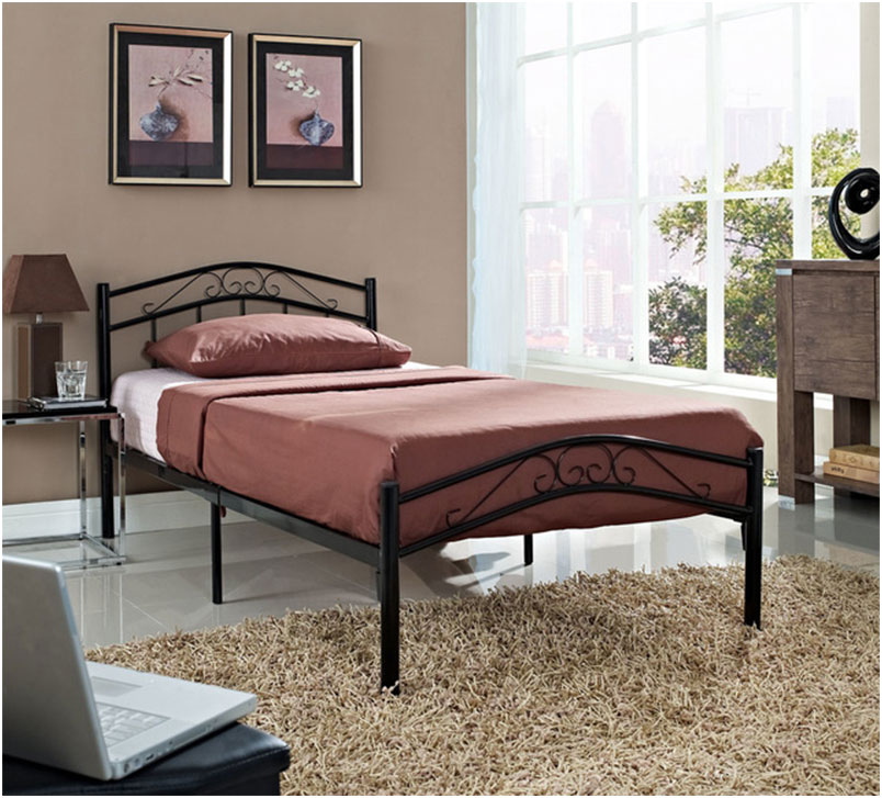 Townhouse Twin Iron Bed Frame Design