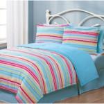Twin Geo Stripes Multi Reversible Girls Twin Bedding Sets