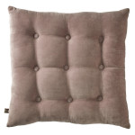 Vintage Mauve Buttoned Velvet Cushion