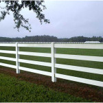 White Split Rail Fence with PVC